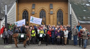 ..03. Nov 17 Start zur vorletzten Etappe in Hennef an der Christuskirche..