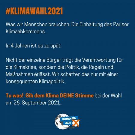 #Klimawahl2021